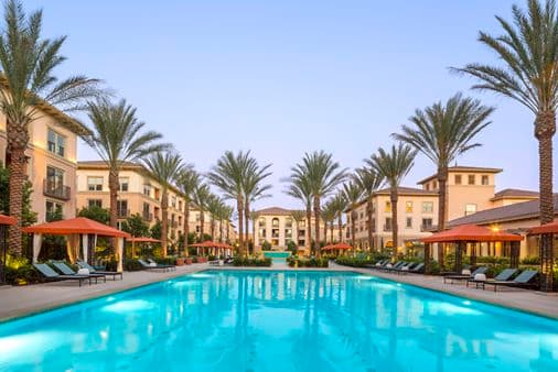 Pool view of Westview at Irvine Spectrum Apartment Homes in Irvine, CA