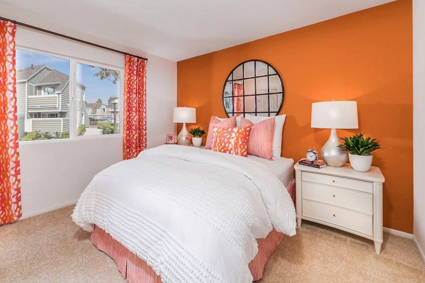 Interior view of Bedroom at Windwood Glen Apartment Homes in Irvine, CA.