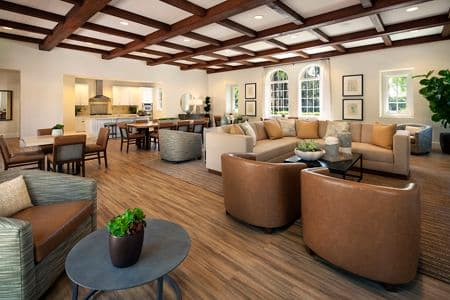 Interior view of clubhouse at Woodbury Lane Apartment Homes in Irvine, CA.