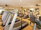 Interior view of fitness center at Woodbury Lane Apartment Homes in Irvine, CA.