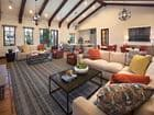 Interior view of clubhouse at Woodbury Place Apartment Homes in Irvine, CA.