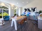 Interior view of Business Center at Vista Real Apartment Homes in Mission Viejo, CA.