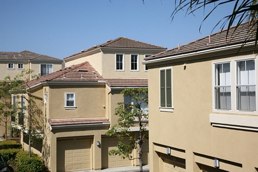 Exterior view of Baypointe Apartment Homes in Newport Beach, CA.