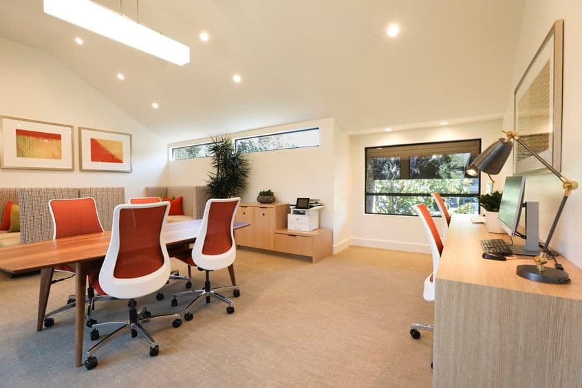 Interior view of business center at Baywood Apartment Homes in Newport Beach, CA.