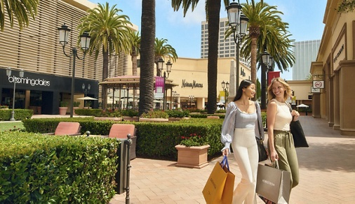 Exterior view of talent at Fashion Island in Newport Beach, CA.