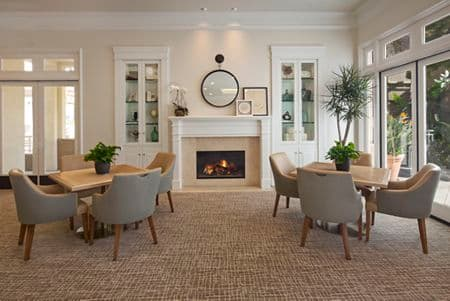 Interior view of Clubhouse at The Colony at Fashion Island Apartment Homes in Newport Beach, CA.