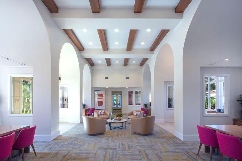 Interior view of leasing center at Turtle Ridge Apartment Homes in Newport Beach, CA.