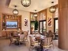 Interior view of Cafe at Villas Fashion Island Apartment Homes in Newport Beach, CA.