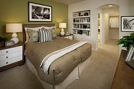 Interior views of master bedroom at Gateway Apartment Homes in Orange, CA.