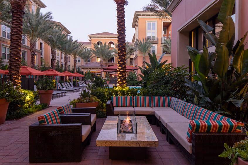 Exterior views at Gateway Apartment Homes in Orange, CA.