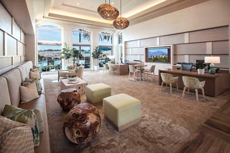 Interior view of the Leasing Center at Las Flores Apartment Homes in Rancho Santa Margarita, CA.