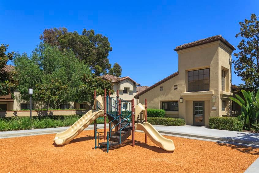Exterior view of playground at Rancho Alisal Apartment Homes in Tustin, CA.