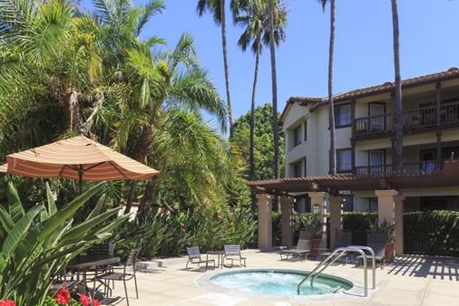 Pool view at Rancho Mariposa Apartment Homes in Tustin, CA.