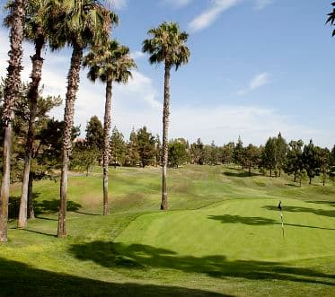 View of golf course at Rancho Monterey Apartment Homes in Tustin, CA.