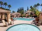 Pool view of Rancho Santa Fe Apartment Homes in Tustin, CA.