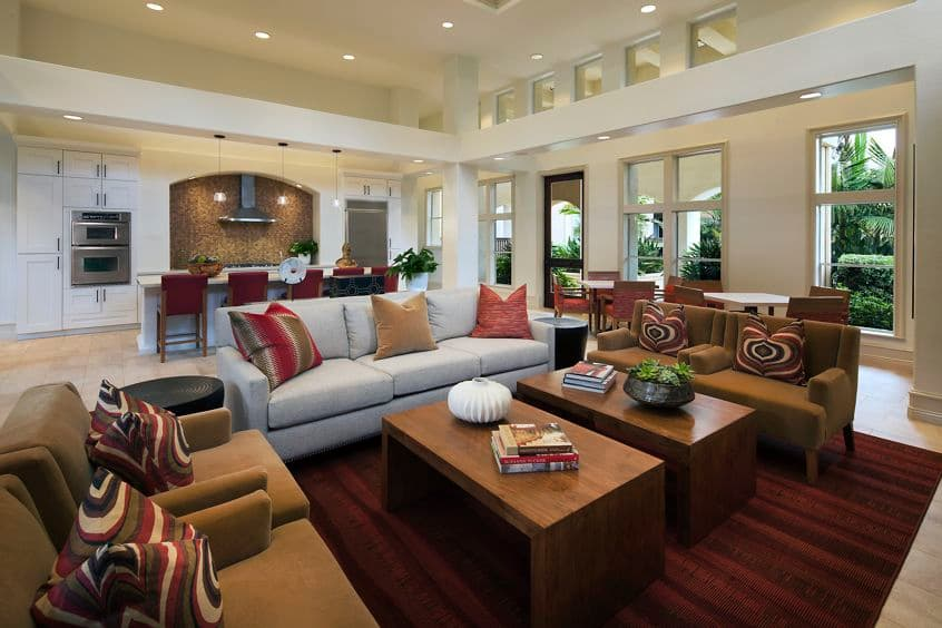 Interior view of clubhouse at Sierra Vista Apartment Homes in Tustin, CA.