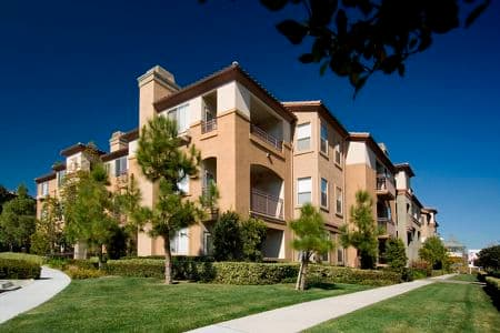 Exterior views of Del Rio Apartment Homes in Mission Valley, CA.