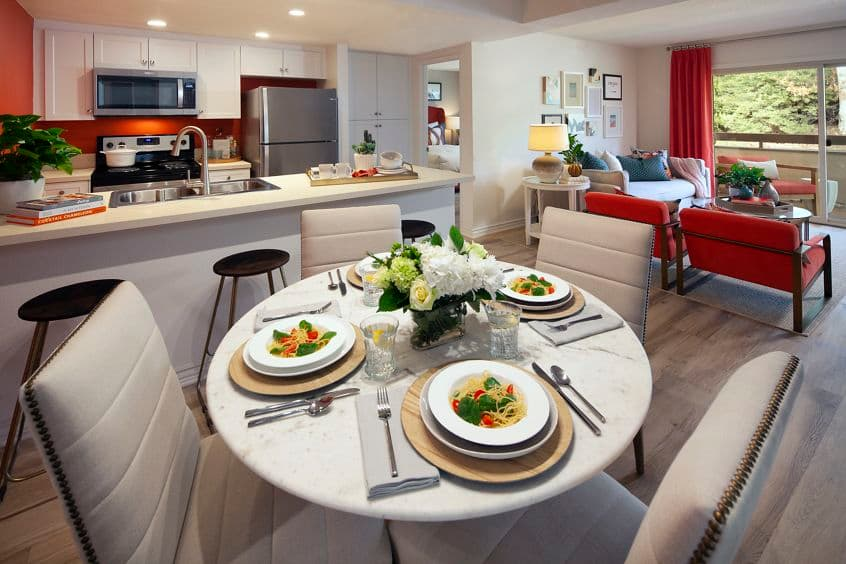 Interior general view of Seascape Apartment Homes in Carlsbad, CA.