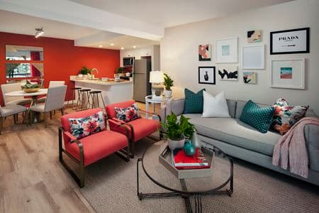 General interior view of Seascape Apartment Home in Carlsbad, CA.