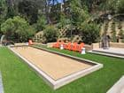 Exterior view of game area at Solazzo Apartment Homes in La Jolla, CA.