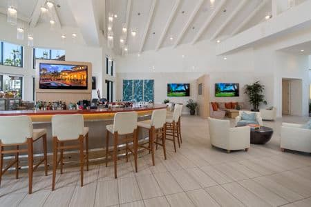 Interior view of The Vivant Craft Bar at The Village Mission Valley Apartment Homes in San Diego, CA.