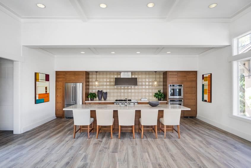 Interior view of clubhouse kitchen at Torrey Ridge Apartment Homes in San Diego, CA.
