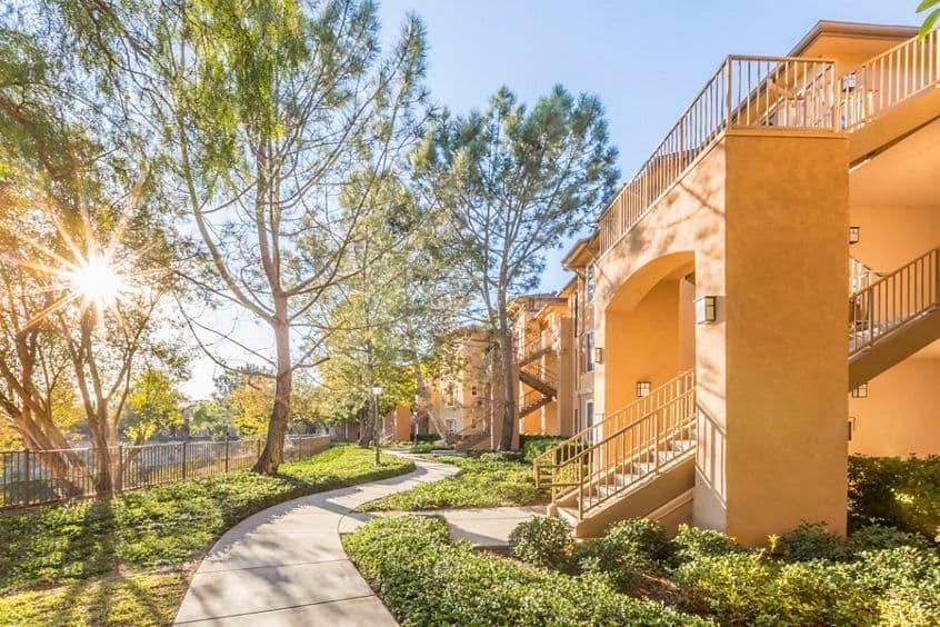 Exterior view at Torrey Ridge Apartment Homes in San Diego, CA.
