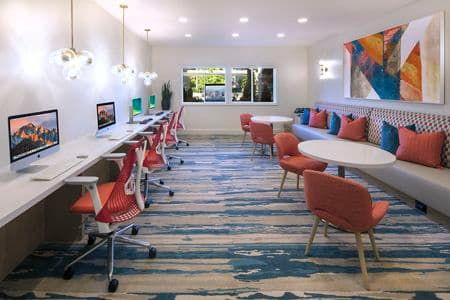 Interior view of iLounge at Torrey Villas Apartment Homes in San Diego, CA.
