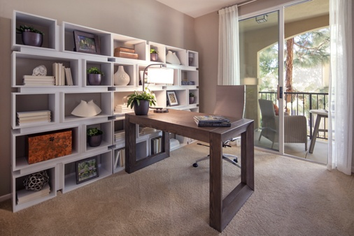 Interior view of den at Torrey Villas Apartment Homes in San Diego, CA.