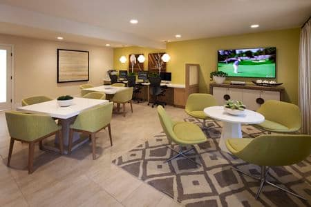 Interior view of icafe at Westwood Apartment Homes in San Diego, CA.