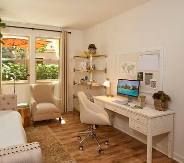 Interior view of office for work from home lifestyle at an Irvine Company Apartment Community.