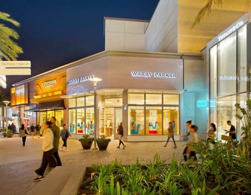 Promotional images from the Westfield UTC shopping mall, La Jolla, San Diego, Ca