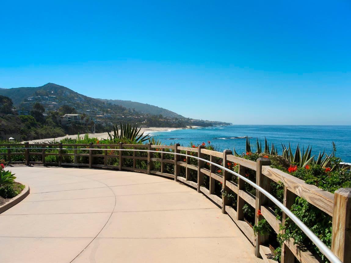 Gorgeous landscape featuring ocean view. Wonderful vacation destination.