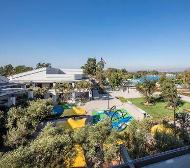 Exterior view of Woodbridge Village Center in Irvine.