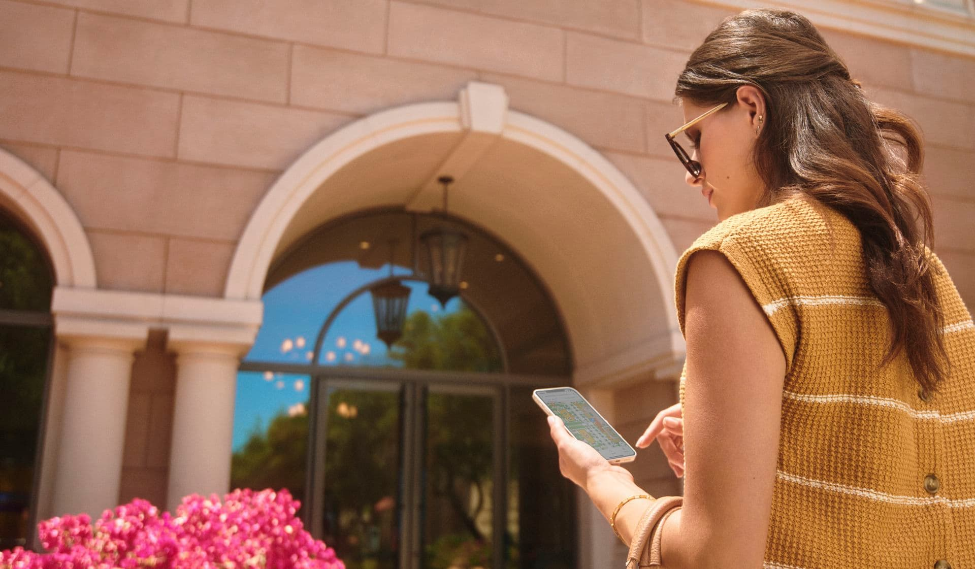 Exterior view of Tour Guide at Promenade Apartment Homes in Irvine, CA.
