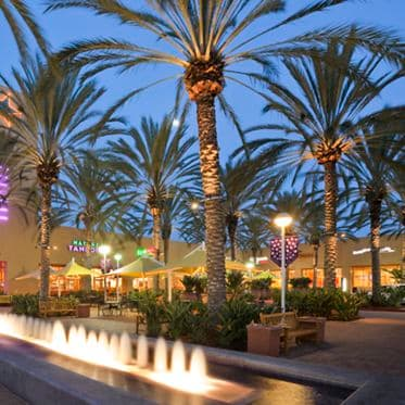 Photography of the retail shopping center, The Market Place in Irvine, CA