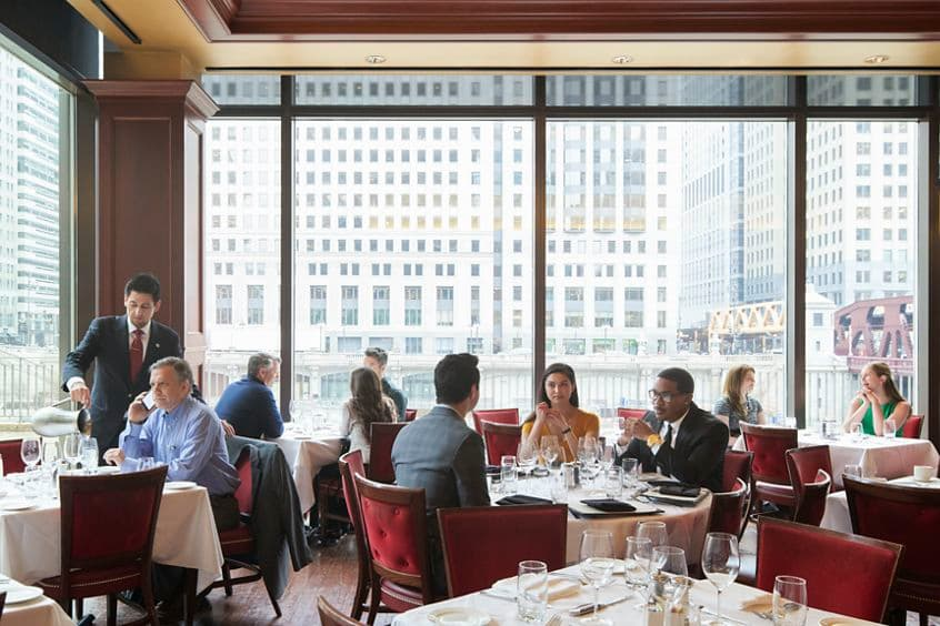 Lifestyle photography of Chicago Cut Steakhouse, a restaurant located at 300 North LaSalle in Chicago, IL