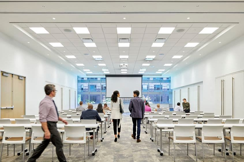 Lifestyle photography for the conference room, Michigan Room, at One North Wacker in Chicago, IL