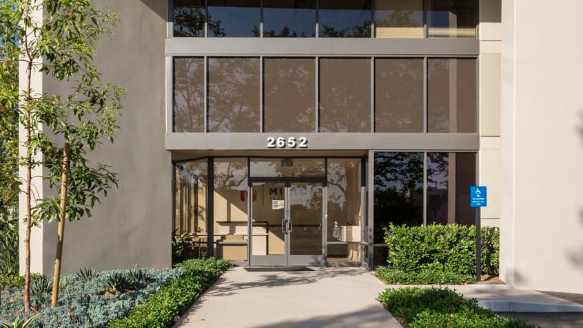 Exterior view of 2652 McGaw office building.