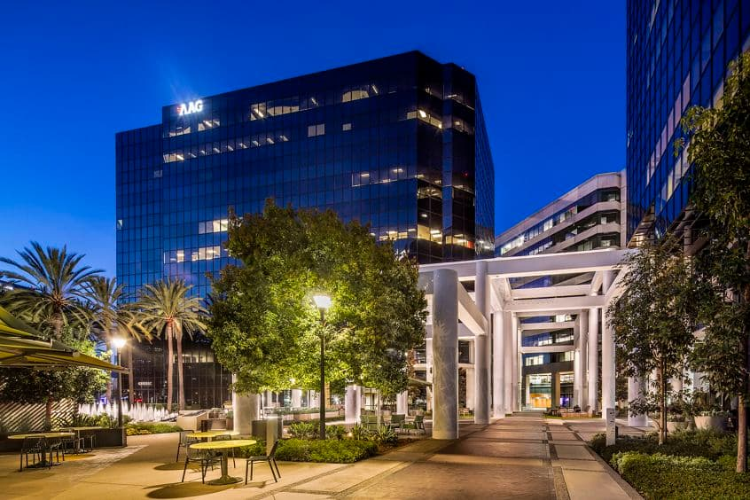 Exterior building photography of 18200 Von Karman in Irvine Towers, in Irvine, California.