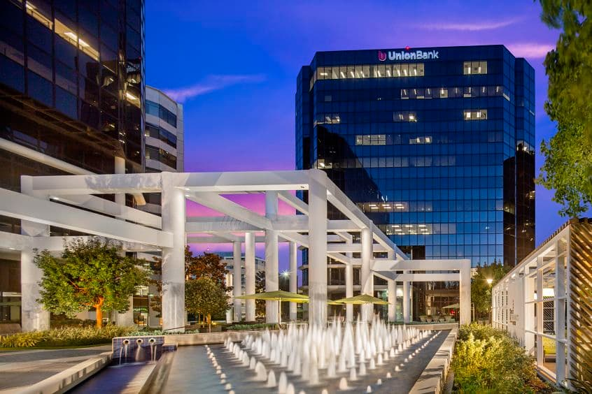 Exterior building photography of 18300 Von Karman in Irvine Towers, in Irvine, California.