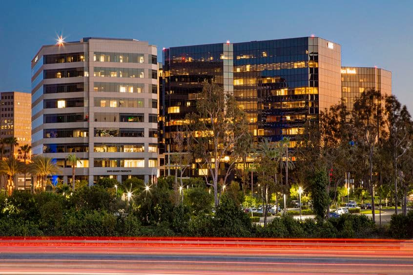 Exterior building photography at Irvine Towers, in Irvine, California.
