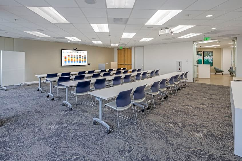 Photography of the conference center at MacArthur Court in Newport Beach, CA