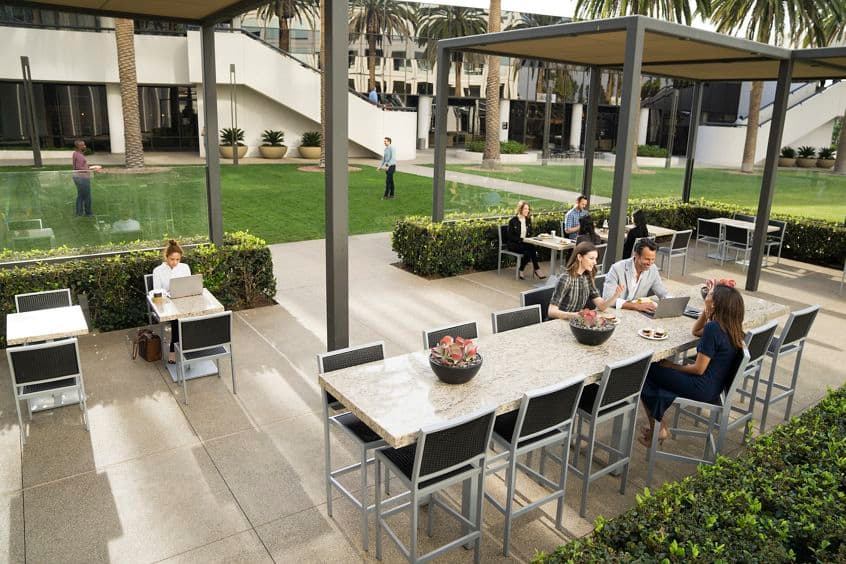 Lifestyle photography of the Commons at MacArthur Court, Newport Beach, Ca