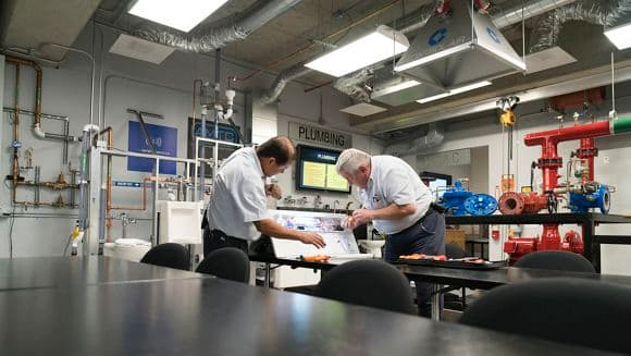 Lifestyle photography of the engineering lab at Newport Gateway, Newport Beach, Ca