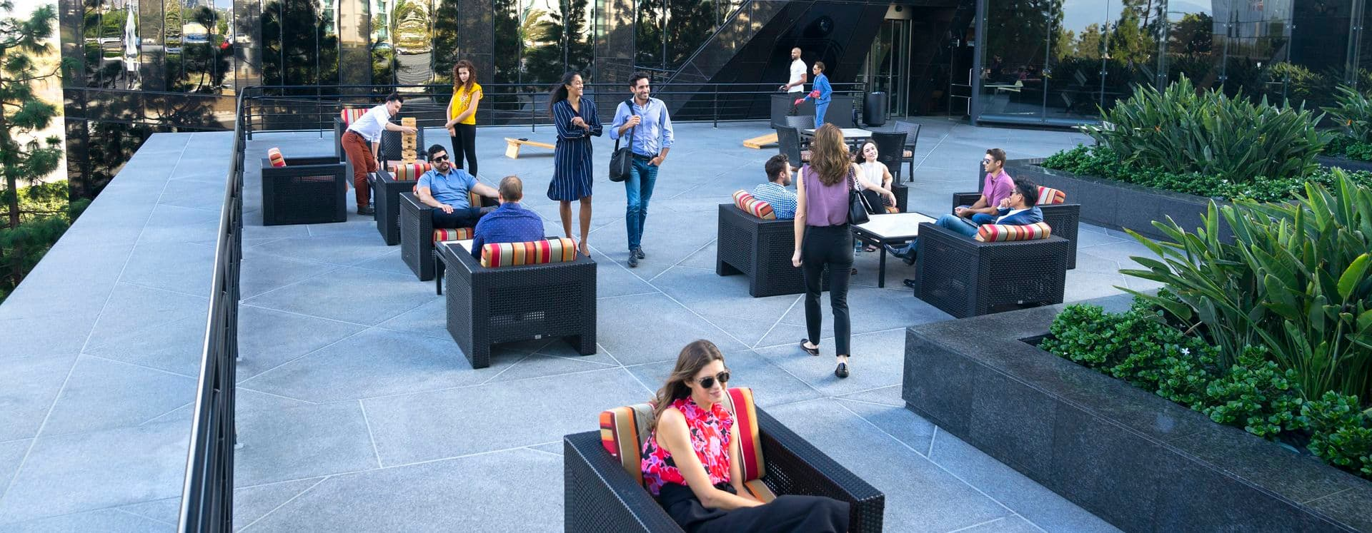 Photography of Outdoor Workspace at Newport Gateway, Irvine, Ca
