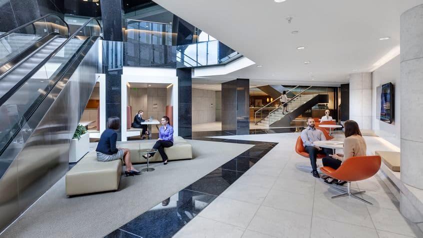 Photography of lobby at Newport Gateway, 19800 MacArthur Blvd, Irvine, Ca
