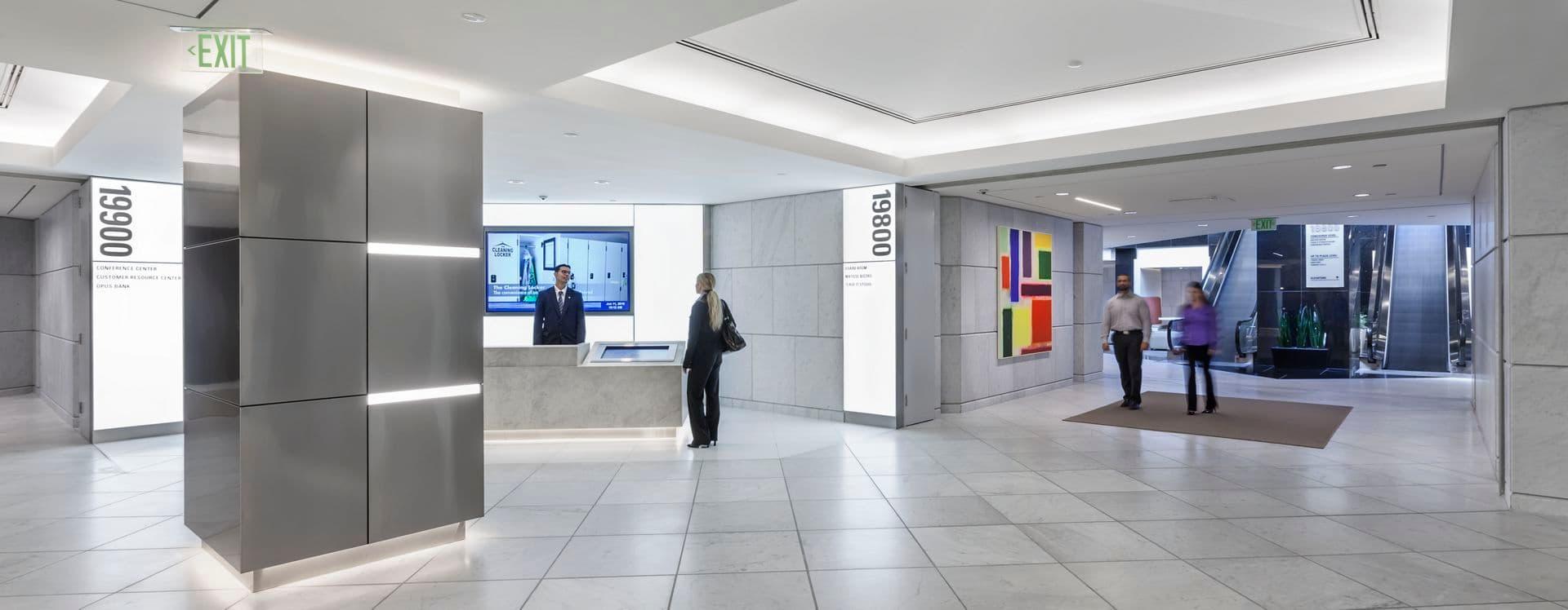 Photography of lobby at Irvine Towers, 19900 MacArthur Blvd, Irvine, Ca