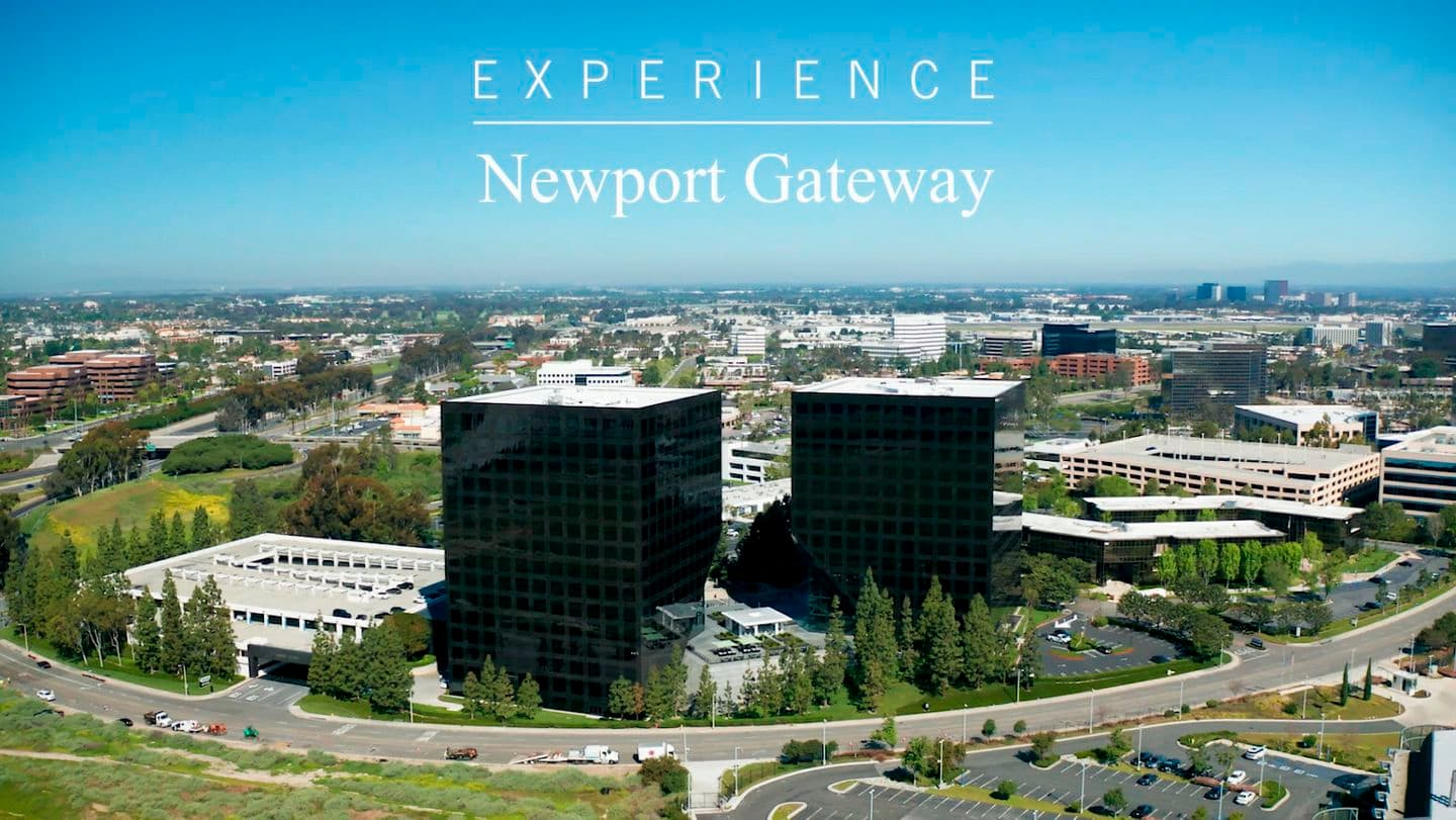 Video still of Newport Gateway aerial in Irvine, CA.