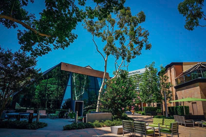 Exterior Photography of The Commons at Pacific Arts Plaza, Costa Mesa, CA.